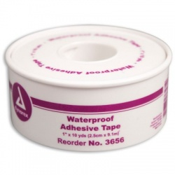 "1""x10 yd. Waterproof tape, plastic spool"