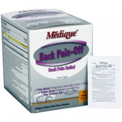 The Medique Back Pain-Off - 100 Per Box/Case of 12 $8.70 each