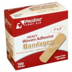 "1""x3"" Fabric bandage Heavy Woven – 100 Per Box"
