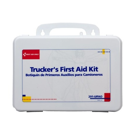 Trucker 16 Unit First Aid Kit - plastic