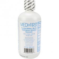 Eye wash, 8 oz. plastic bottle, screw top, 1 each