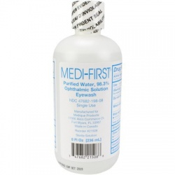 Eye wash, 8 oz. plastic bottle, screw top, 24 per case
