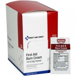 First aid/burn cream, .9 gm pack - 144 per box