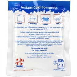 "4"" x 5"" Urgent First Aid Instant Cold Compress, 1 Each"
