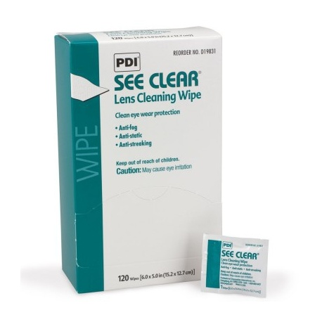 See Clear Eyeglass Cleaning Wipe - 120 Per Box Case of 12 @ $7.99 ea.