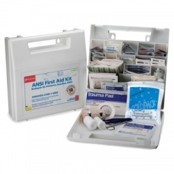 50 Person, Bulk First Aid Kit, Plastic, White, 196 Pieces/Case of 6 @ $29.00 ea.