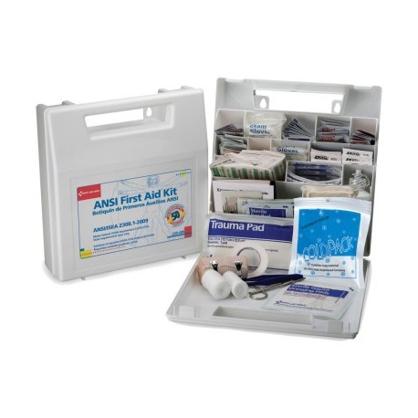 50 Person, Bulk First Aid Kit, Plastic, White, 196 Pieces/Case of 10 $32.50 ea.