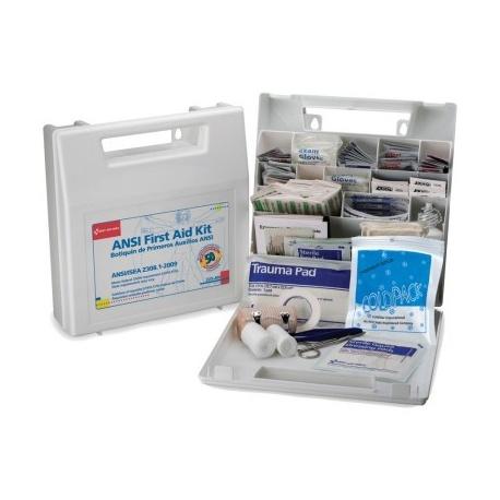50 Person, Bulk First Aid Kit, Plastic, White, 196 Pieces/Case of 10 $32.50 ea.
