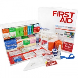 2 Shelf Industrial ANSI B+ First Aid Station, Pocketliner - 75 Person