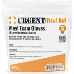 Disposable Gloves, Large, 5 Pair Per Bag