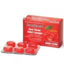 Sore Throat Lozenges Cherry/Menthol, 18/Bx