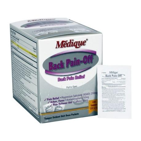 The Medique Back Pain-Off - 100 Per Box