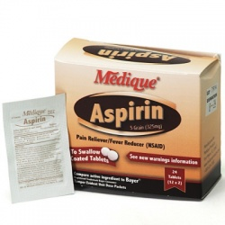 Medique Aspirin 5 Grain, 24/box
