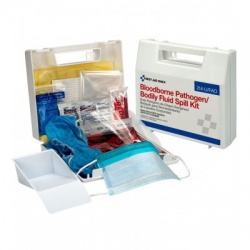 Bloodborne Pathogen and Bodily Fluid Spill Kit - 24 Pieces - Plastic/Case of 10 $18.25 each.