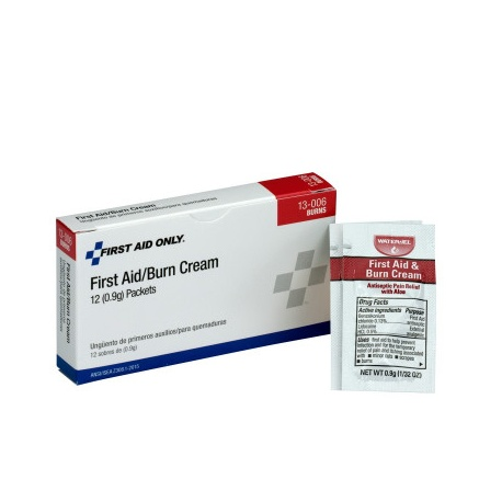FIRST AID/BURN CREAM - .9 GRAM - 12 PER BOX/Case of 6 @ $2.14 ea.
