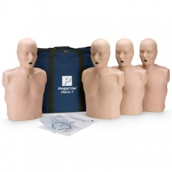 Prestan Adult CPR Manikin w/o Monitor - 4 Pack - Medium or Dark Skin