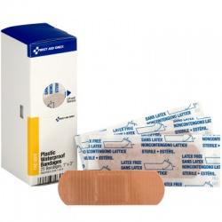 "1"" X 3"" Adhesive Plastic Waterproof Bandages, 25 Per Box - SmartTab EzRefill"