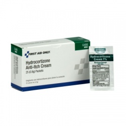 1% Hydrocortisone Cream USP, .9 gm pack - 25 per box/Case of 18 $4.70 each