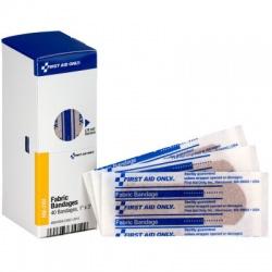 """1"""" X 3"""" Adhesive Fabric Bandage, 40 Per Box - SmartTab EzRefill"""