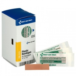"3/8"" X 1.5"" Junior Plastic Bandages, 40 Per Box - SmartTab EzRefill"