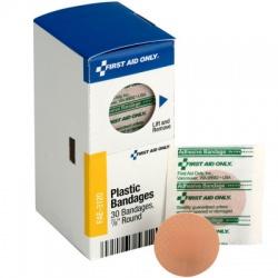 "0.88"" Round Spot Plastic Bandages, 30 Per Box - SmartTab EzRefill"