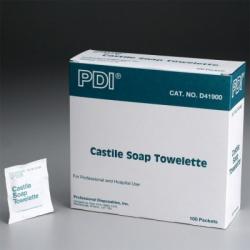 Castile Soap Towelette, 5 inch x 7 inch - 100 Per Box
