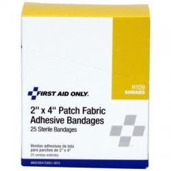 "2""x4"" Patch Fabric Adhesive Bandage, 25 Per Box Case of 12 @ $4.60 ea."