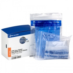 CPR Rescue Breather with 2 Pair Gloves Per Box - SmartTab EzRefill