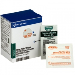 Sting Relief Wipes & Hydrocortisone Cream Packets - SmartTab EzRefill