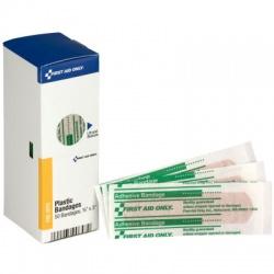 """3/4"""" X 3"""" Adhesive Plastic Bandages, 50 Per Box - SmartTab EzRefill"""