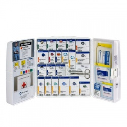 Guaranteed OSHA Compliance General first aid cabinet w/oral medications